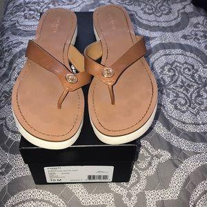 Coach Shelly semi matte calf sandals/flip flop